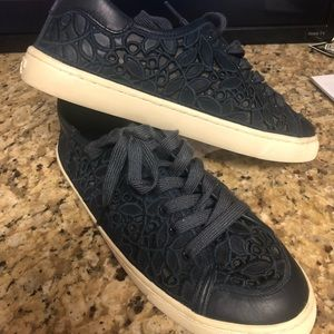 Tory Burch Navy Floral Sneakers